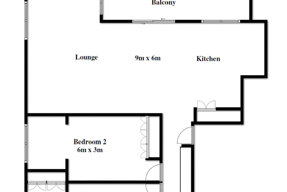 Floorplan of Homely apartment listing, 7/1 Rossiter Parade, Hamilton QLD 4007
