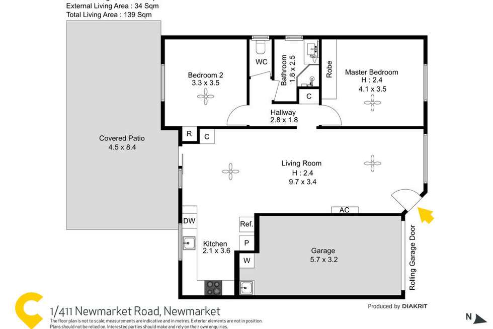 Floorplan of Homely townhouse listing, 1/44 Clowes Lane, Newmarket QLD 4051