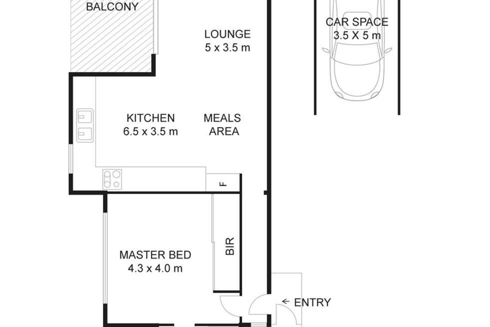 Floorplan of Homely apartment listing, 203B/.42-50 Brickworks Drive, Holroyd NSW 2142