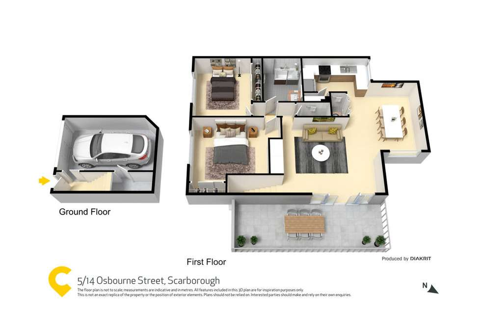 Floorplan of Homely unit listing, 5/14 Osbourne Street, Scarborough QLD 4020