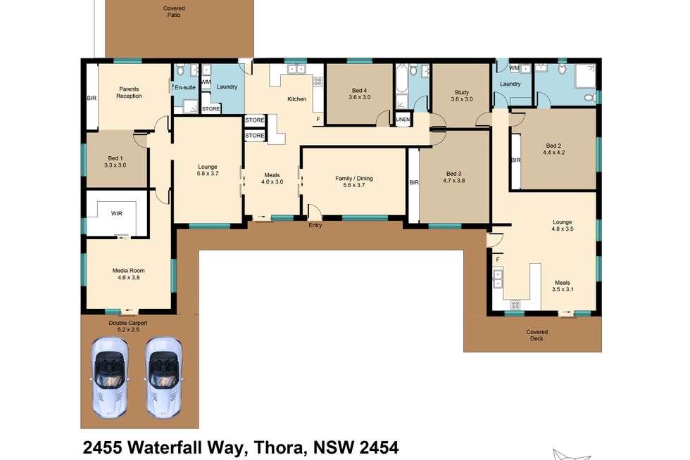 Floorplan of Homely house listing, 2455 Waterfall Way, Thora, Bellingen NSW 2454