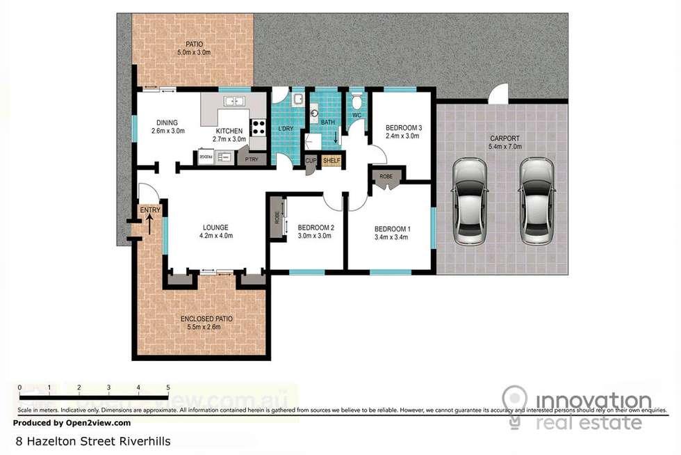 Floorplan of Homely house listing, 8 Hazelton St, Riverhills QLD 4074