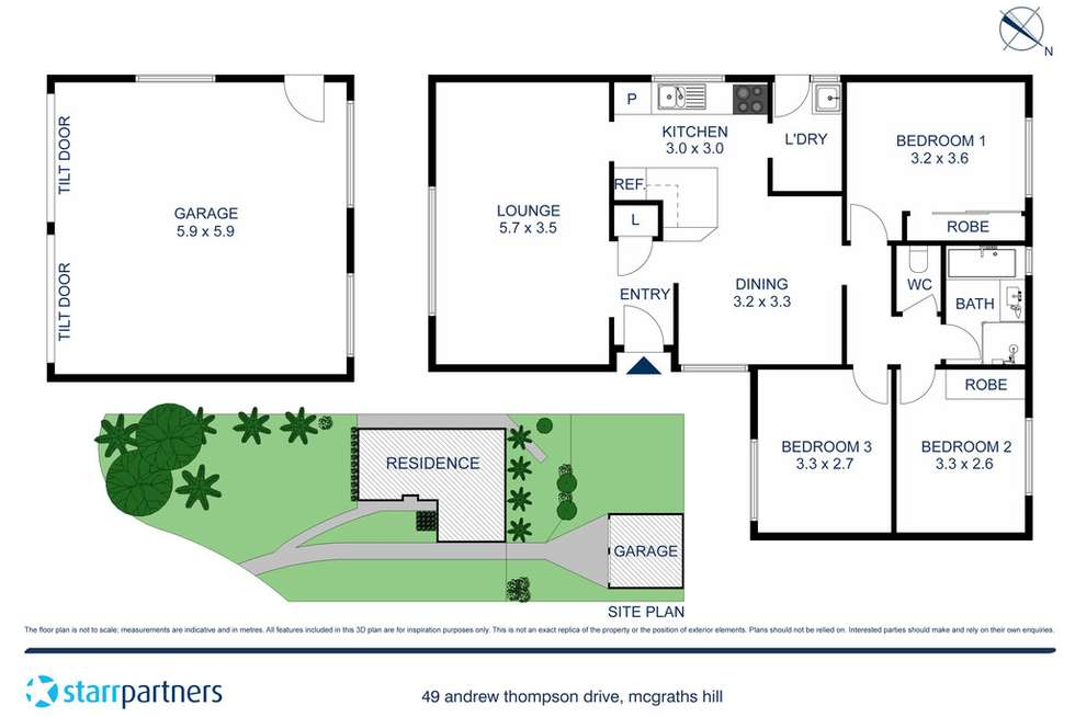 Floorplan of Homely house listing, 49 Andrew Thompson Drive, Mcgraths Hill NSW 2756