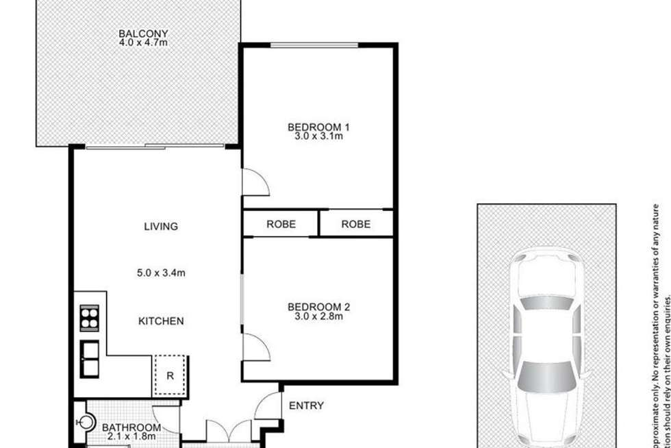 Floorplan of Homely unit listing, E84/41 Gotha St, Fortitude Valley QLD 4006