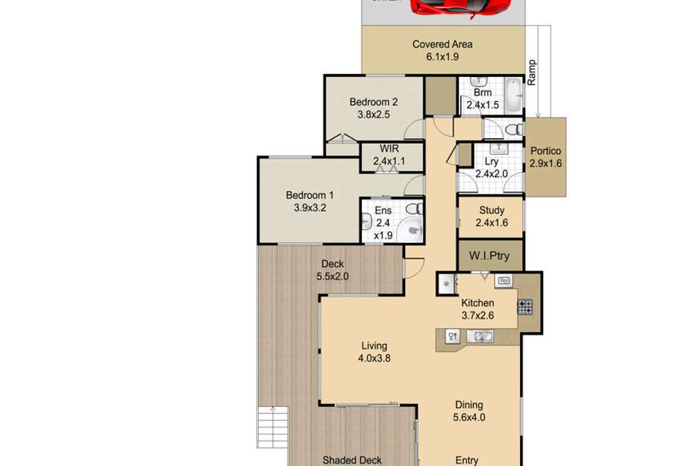 Floorplan of Homely acreageSemiRural listing, 176 White Patch Esplanade, White Patch QLD 4507