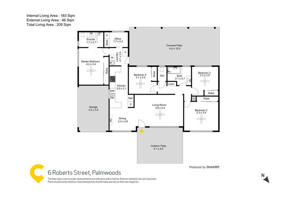 Floorplan of Homely house listing, 6 Roberts Street, Palmwoods QLD 4555