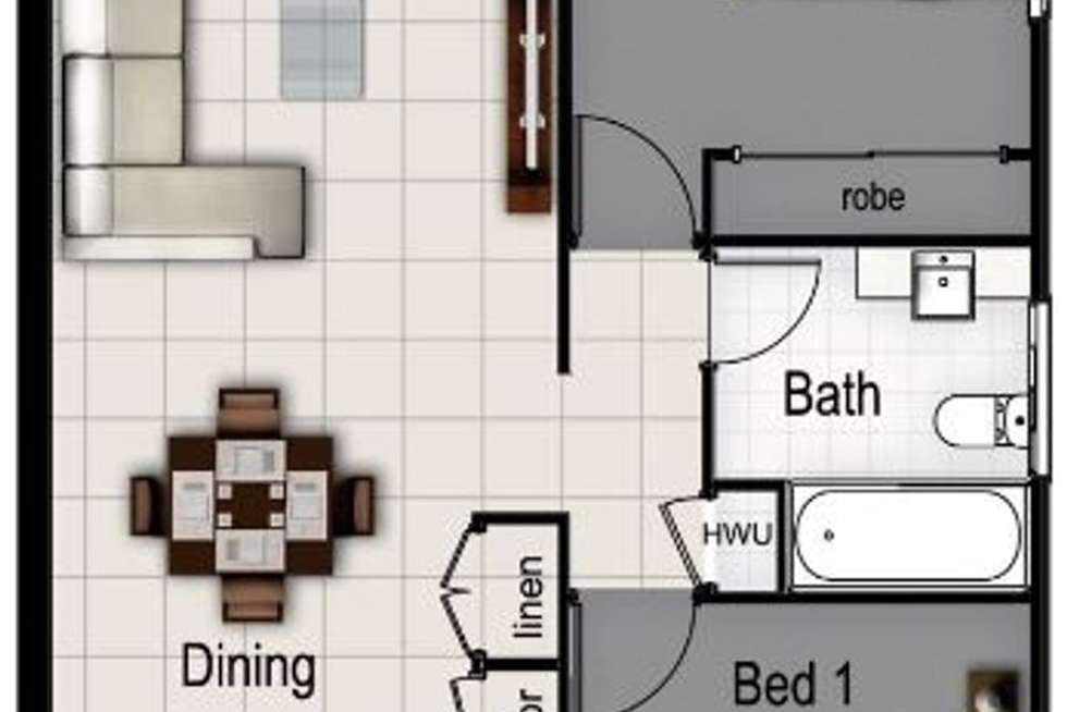 Floorplan of Homely unit listing, 3 / 47 Victor Street, Holland Park QLD 4121
