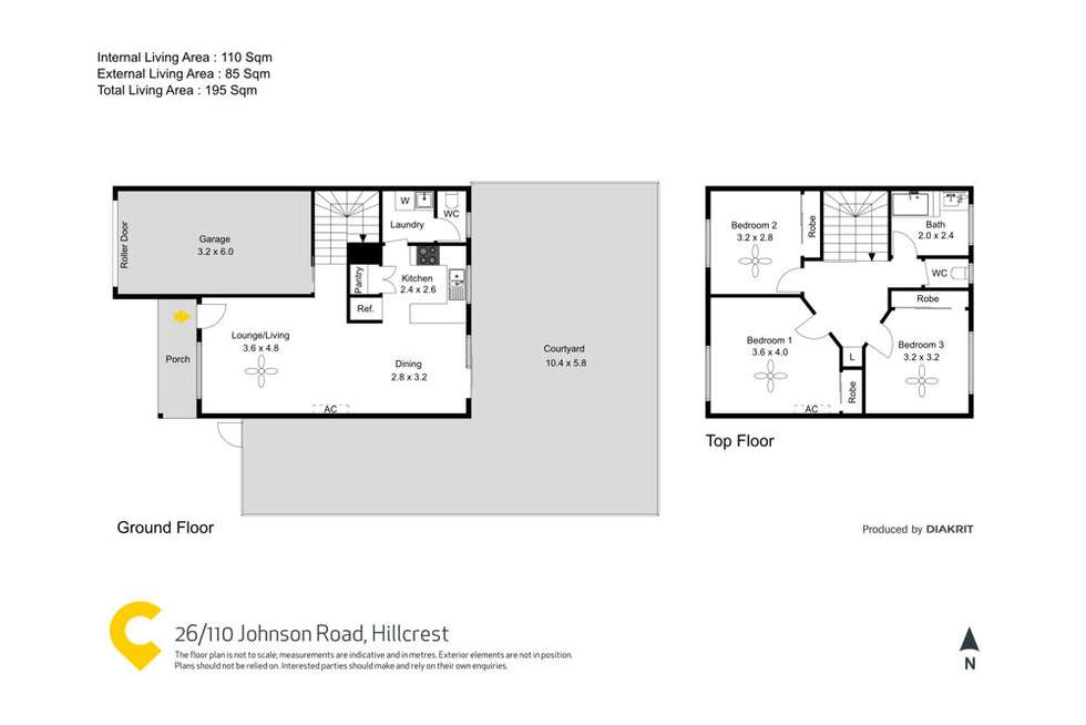 Floorplan of Homely townhouse listing, 26/110 Johnson Road, Hillcrest QLD 4118