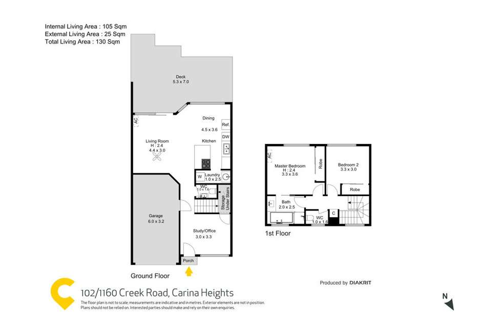 Floorplan of Homely townhouse listing, 102/1160 Creek Road, Carina Heights QLD 4152
