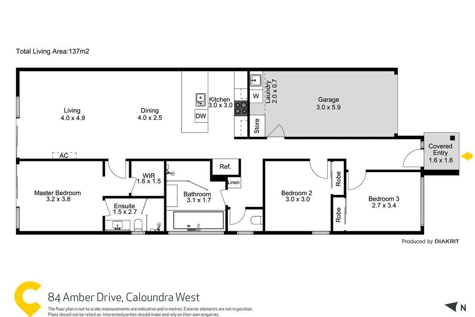 Floorplan of Homely house listing, 84 Amber Drive, Caloundra West QLD 4551