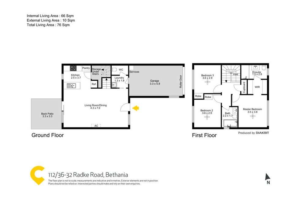 Floorplan of Homely townhouse listing, 112/26-32 Radke Road, Bethania QLD 4205