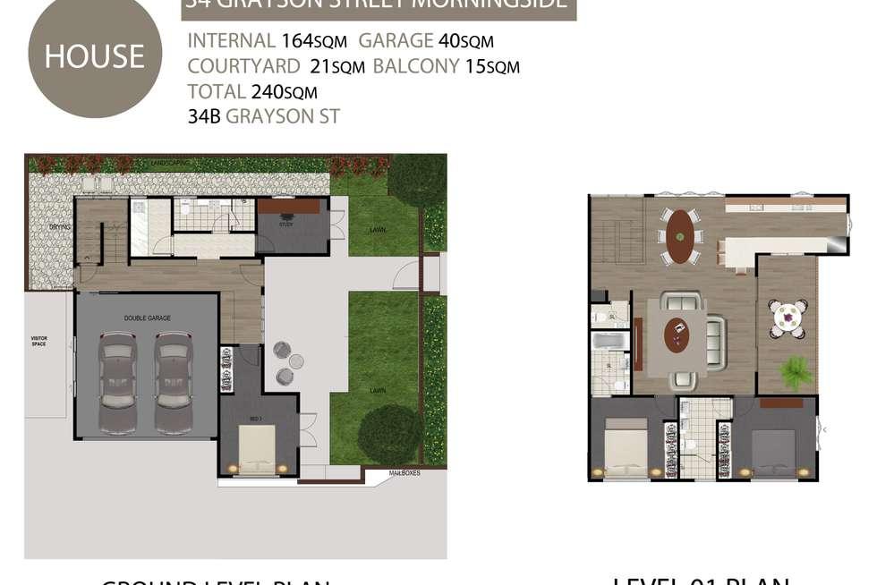 Floorplan of Homely house listing, 34b Grayson Street, Morningside QLD 4170