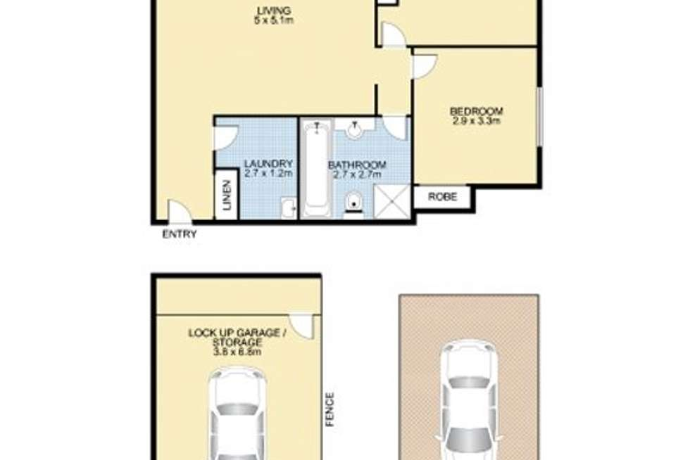 Floorplan of Homely apartment listing, 10/73-75 Deakin Street, Silverwater NSW 2128