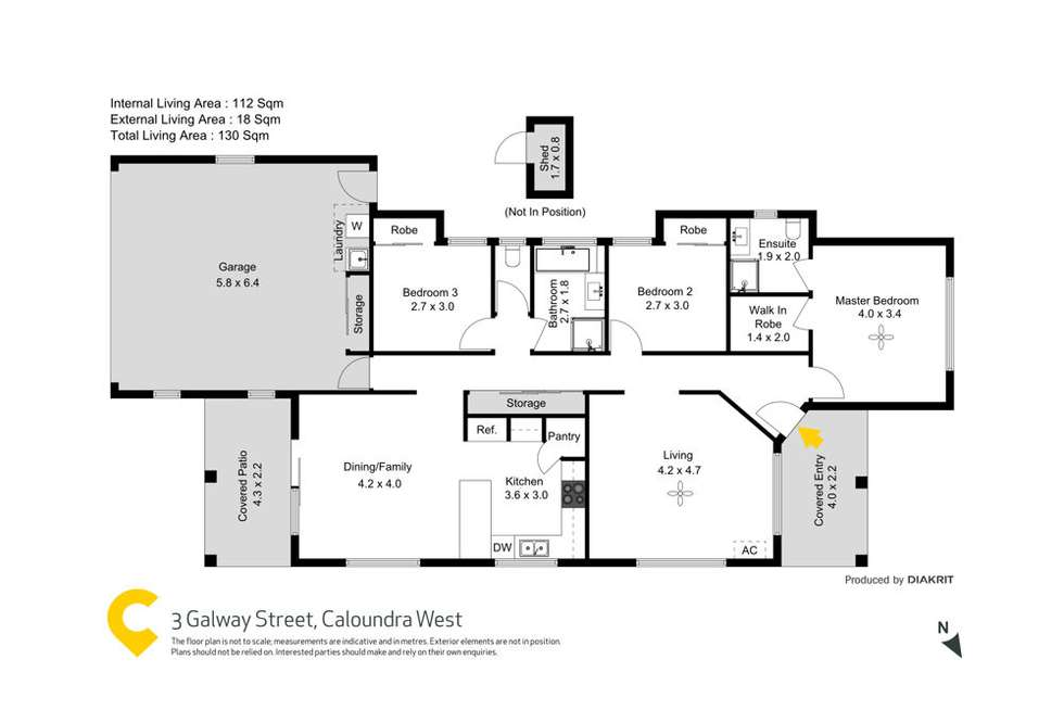 Floorplan of Homely house listing, 3 Galway Street, Caloundra West QLD 4551