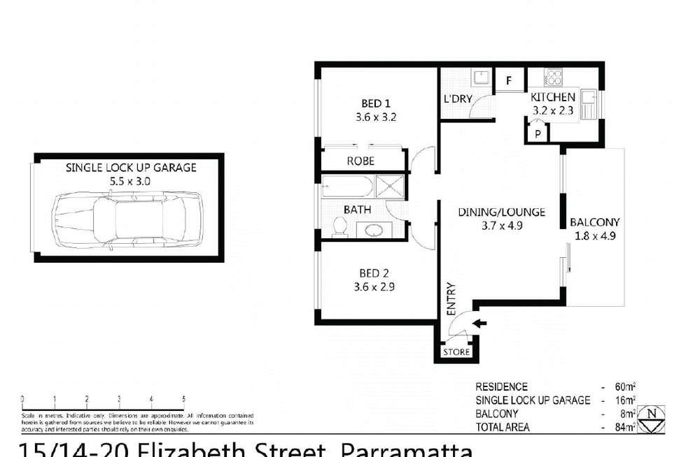 Floorplan of Homely unit listing, 15/14-20 Elizabeth Street, North Parramatta NSW 2151