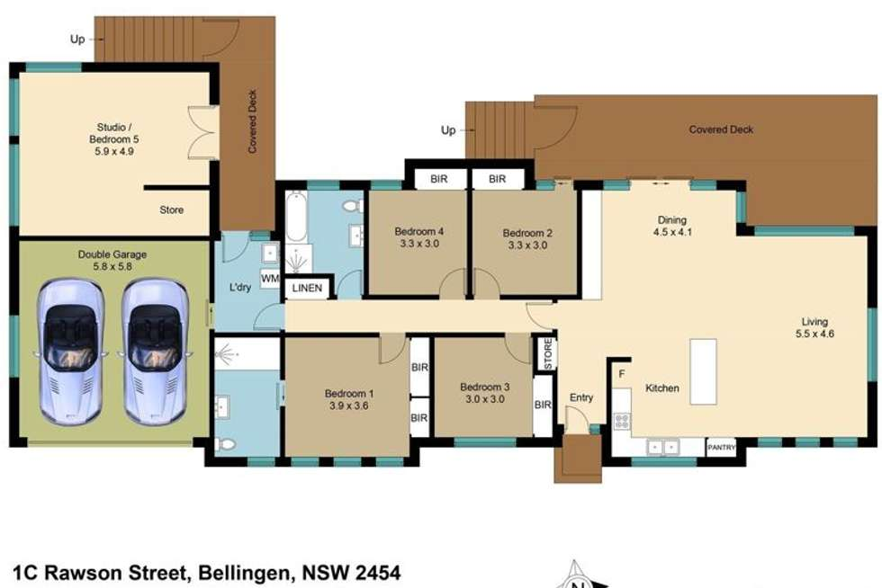 Floorplan of Homely house listing, 1C Rawson Street, Bellingen NSW 2454