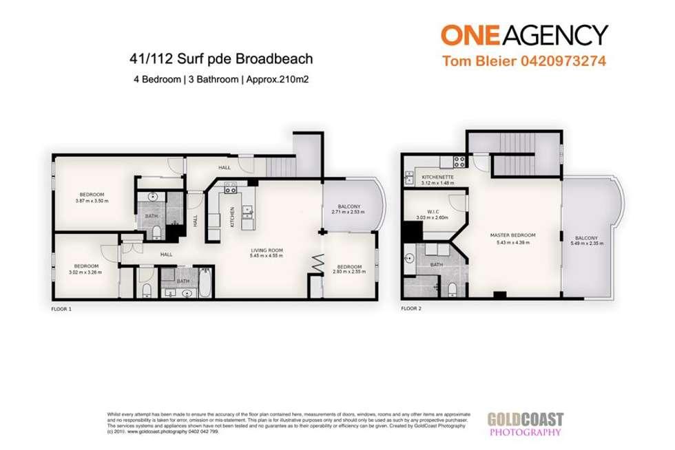 Floorplan of Homely unit listing, 41/ 112 Surf Parade, Broadbeach QLD 4218