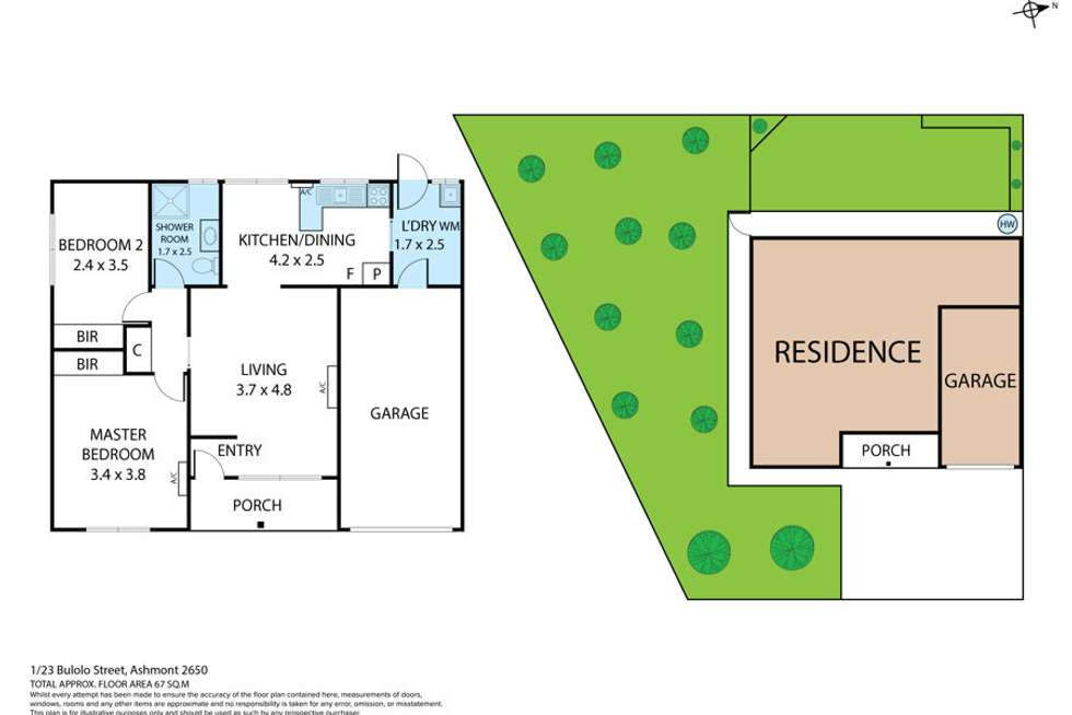Floorplan of Homely house listing, 1&2/23 Bulolo Street, Ashmont NSW 2650