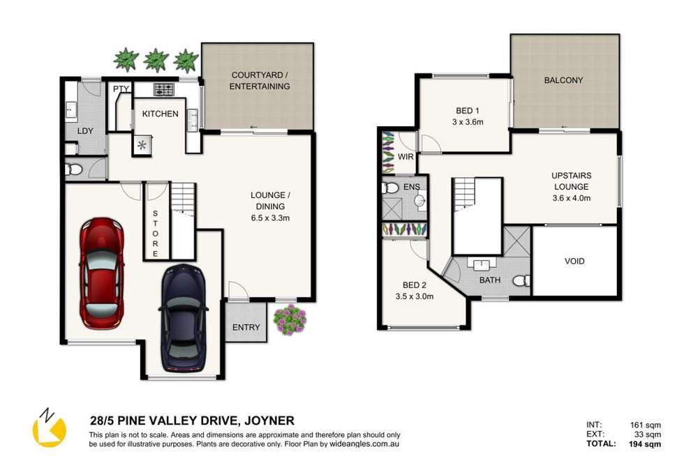 Floorplan of Homely unit listing, 28/5 Pine Valley Drive, Joyner QLD 4500