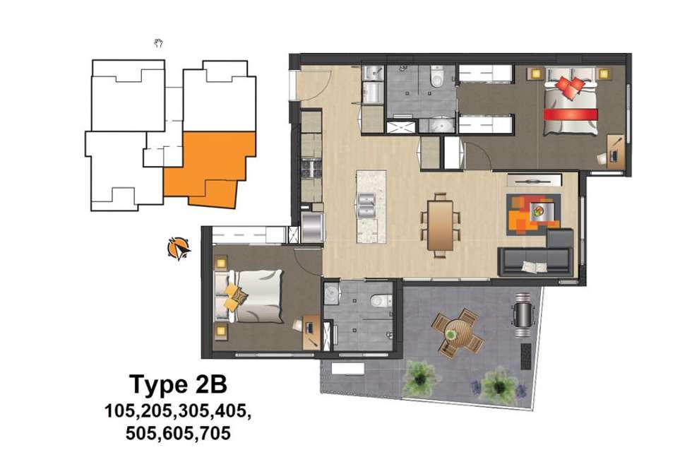 Floorplan of Homely apartment listing, 405 / 65-67 Tyron Street, Mount Gravatt QLD 4122