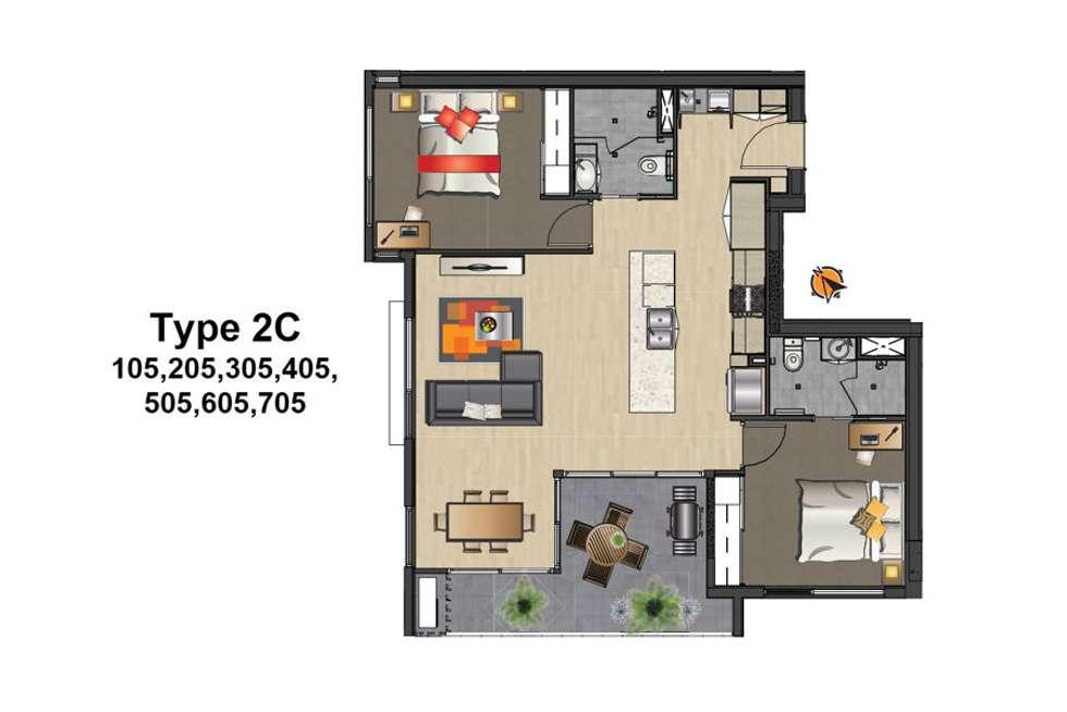 Floorplan of Homely apartment listing, 101 / 65-67 Tyron Street, Mount Gravatt QLD 4122