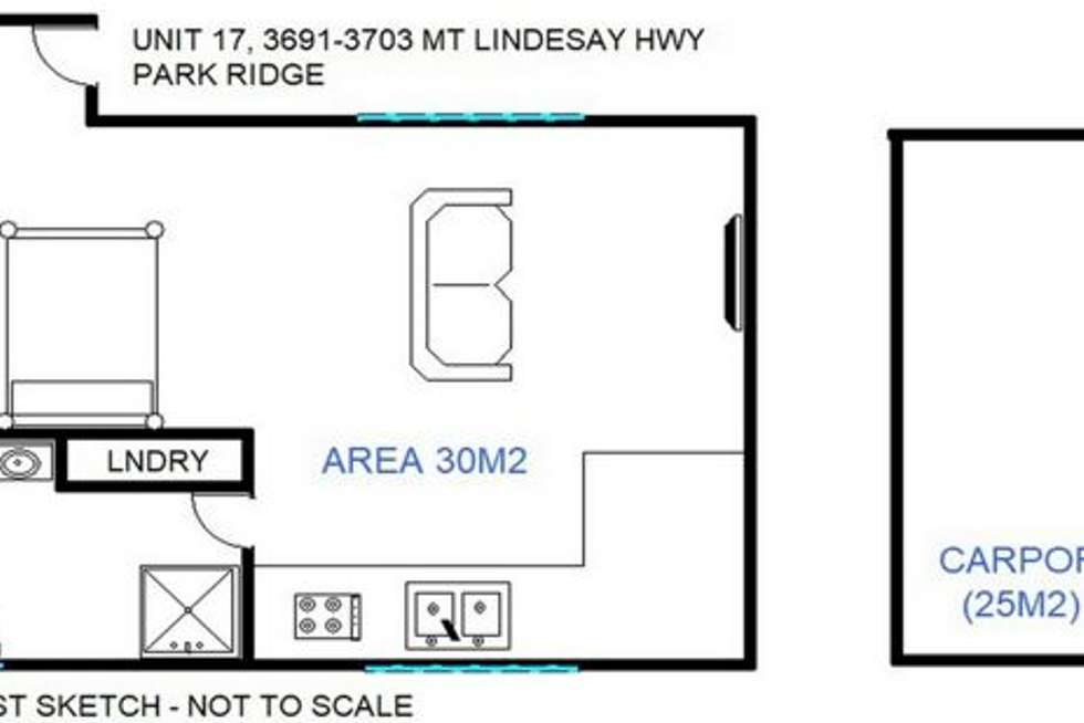 Floorplan of Homely unit listing, 3703 Mt Lindesay Hwy, Park Ridge QLD 4125