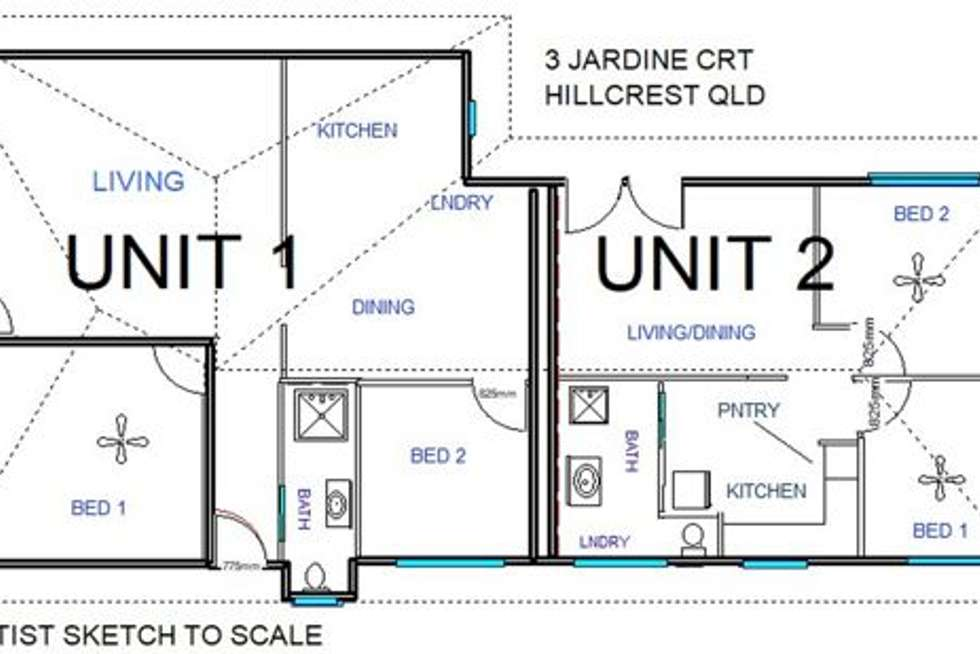 Floorplan of Homely house listing, 3 Jardine Court, Hillcrest QLD 4118