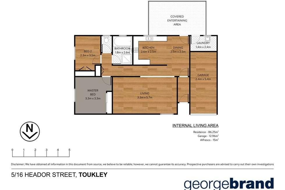Floorplan of Homely villa listing, 5/16 Heador Street, Toukley NSW 2263