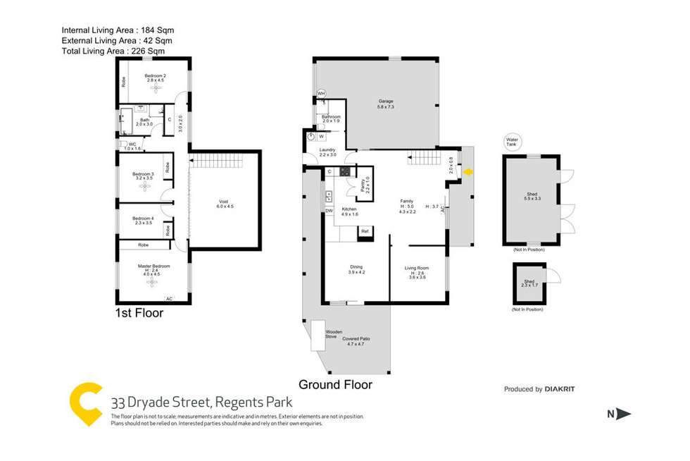 Floorplan of Homely house listing, 33 Dryade Street, Regents Park QLD 4118
