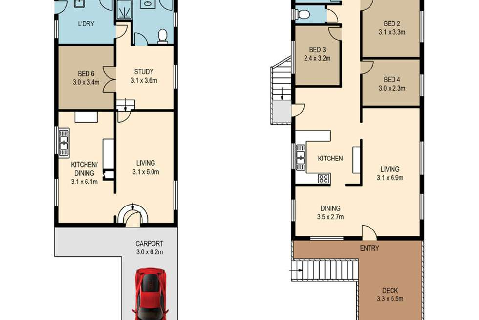 Floorplan of Homely house listing, 32 Browne Street, New Farm QLD 4005