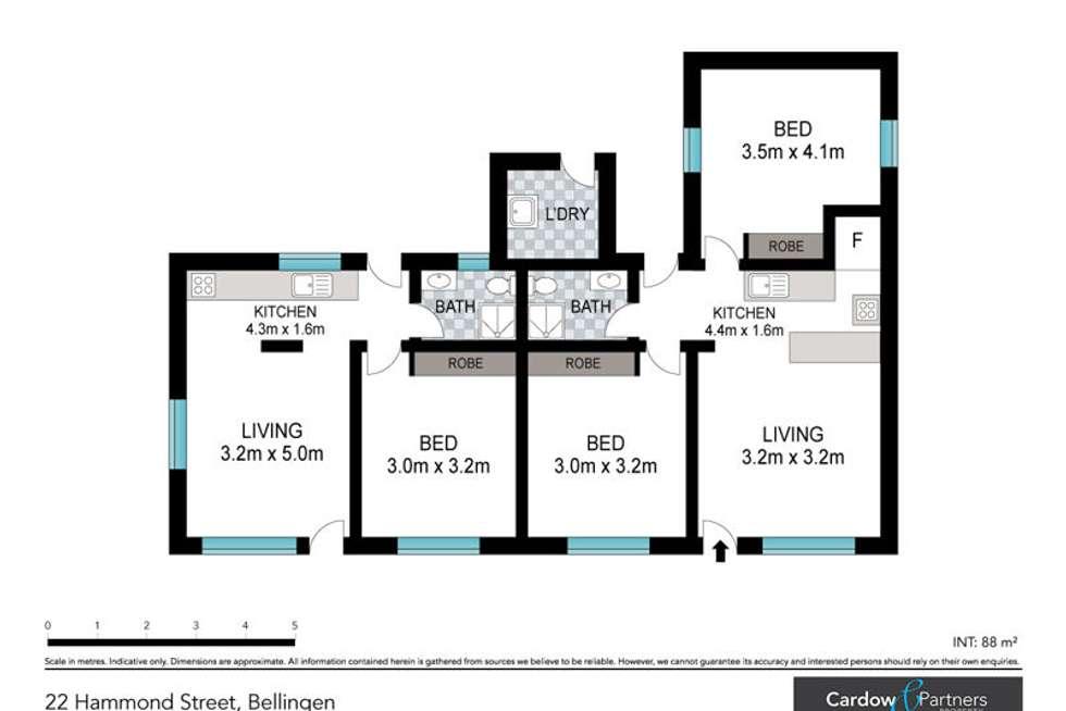 Floorplan of Homely house listing, 22 Hammond Street, Bellingen NSW 2454