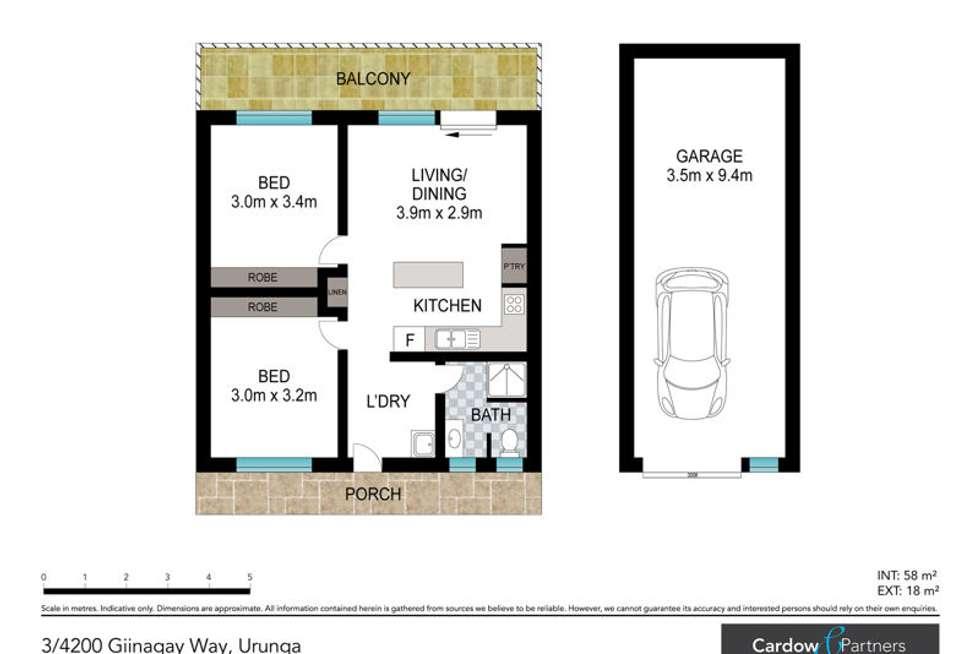 Floorplan of Homely unit listing, 3/4204 Giinagay Way, Urunga NSW 2455