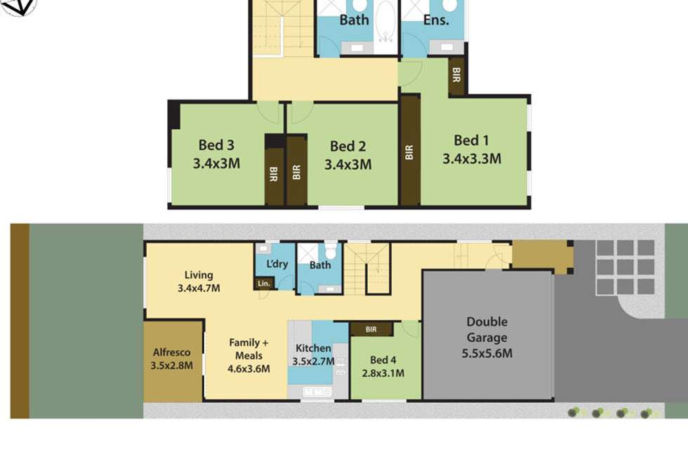 Floorplan of Homely house listing, 28 Chino Place, Kellyville Ridge NSW 2155