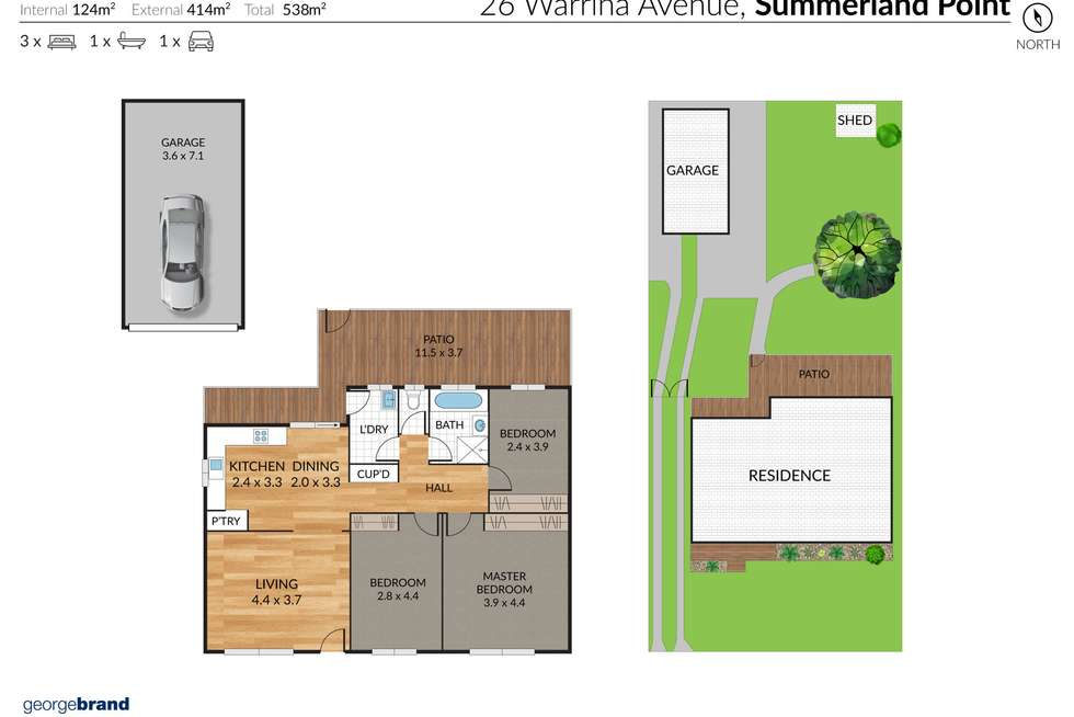 Floorplan of Homely house listing, 26 Warrina Avenue, Summerland Point NSW 2259