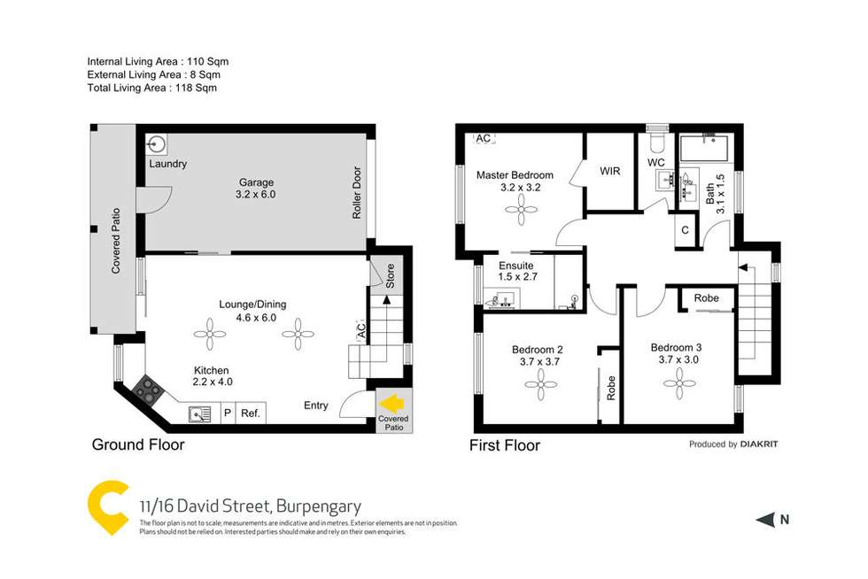 Floorplan of Homely townhouse listing, 11/16 David Street, Burpengary QLD 4505