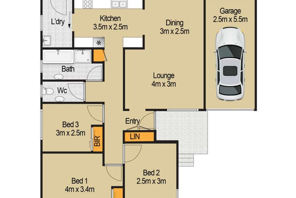 Floorplan of Homely house listing, 13 Deborah Place, Riverstone NSW 2765