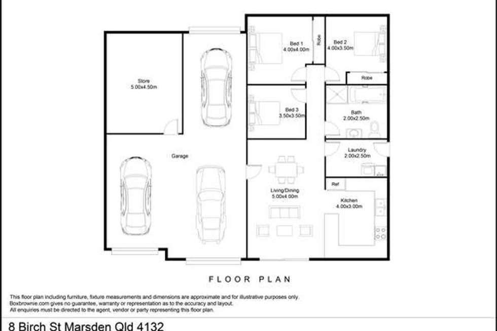 Floorplan of Homely house listing, 8 Birch St, Marsden QLD 4132