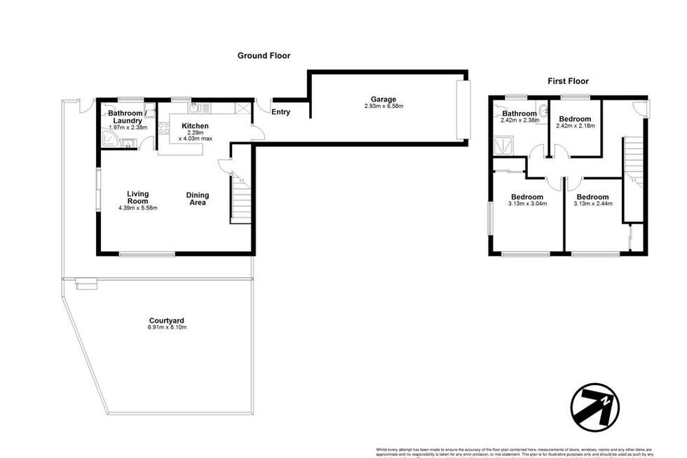 Floorplan of Homely townhouse listing, 1/65 Peach Street, Greenslopes QLD 4120