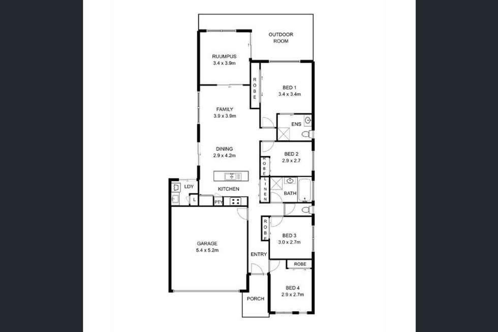 Floorplan of Homely house listing, 6 Sunday Court, Burpengary East QLD 4505