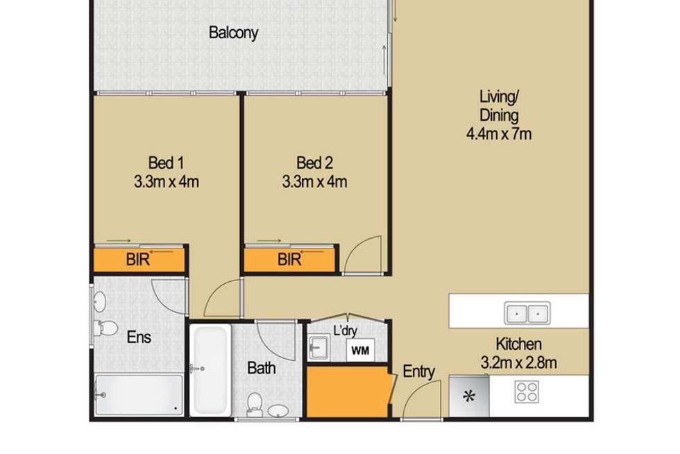 Floorplan of Homely apartment listing, B510 11-13 Solent Circuit, Baulkham Hills NSW 2153