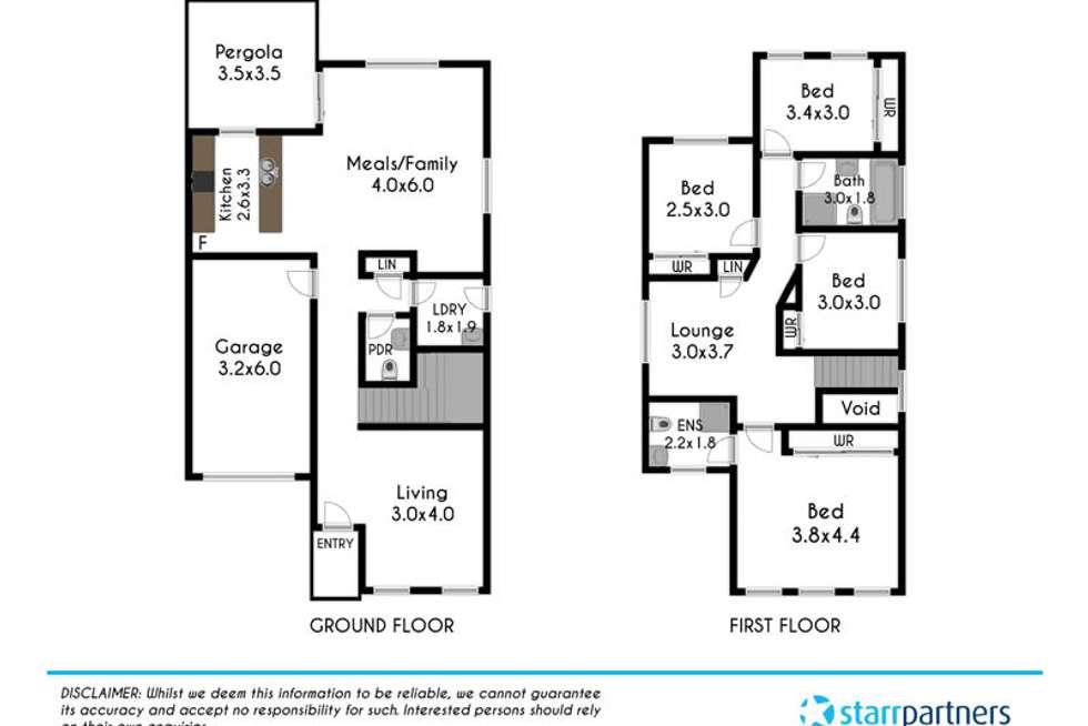 Floorplan of Homely house listing, 12 Northridge Road, Jordan Springs NSW 2747