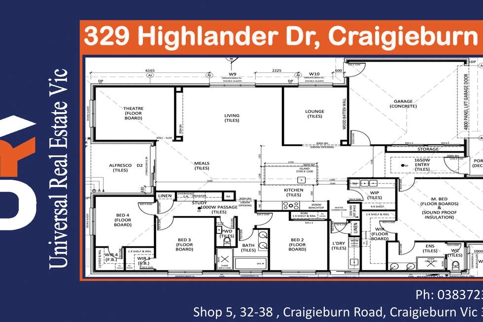Floorplan of Homely house listing, 329 Highlander Drive, Craigieburn VIC 3064