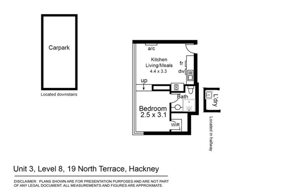 Floorplan of Homely unit listing, 12C/19 North Terrace, Hackney SA 5069