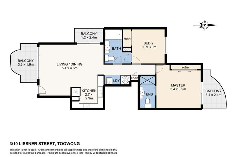 Floorplan of Homely apartment listing, 3/10 Lissner street, Toowong QLD 4066