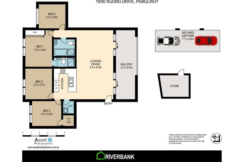 Floorplan of Homely unit listing, 19/50 Nijong Drive, Pemulwuy NSW 2145