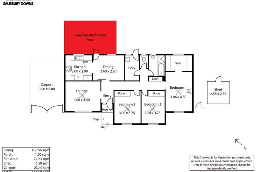 Floorplan of Homely house listing, 15 Leyden Court, Salisbury Downs SA 5108
