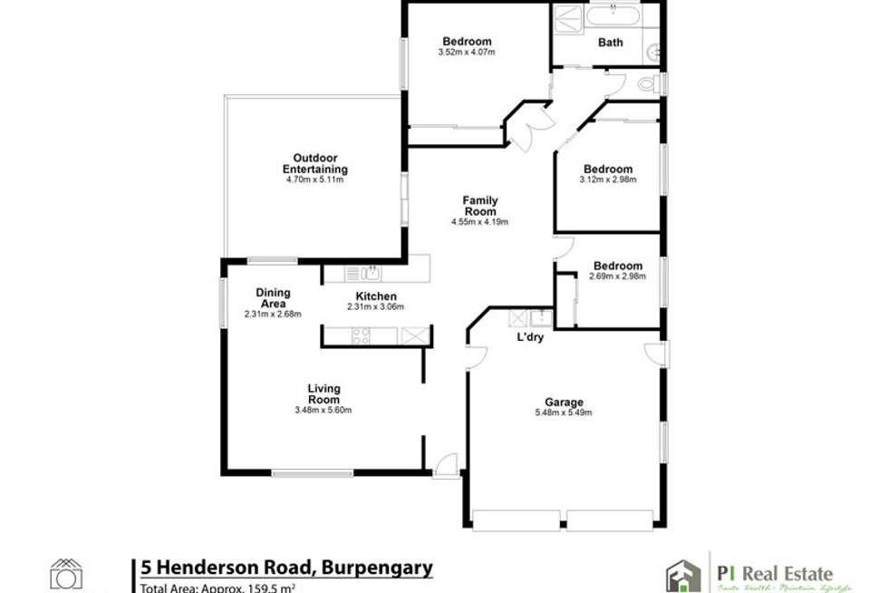Floorplan of Homely house listing, 5 Henderson Road, Burpengary QLD 4505