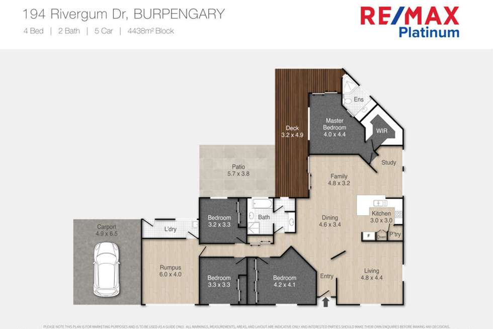 Floorplan of Homely house listing, 194 Rivergum Drive, Burpengary QLD 4505