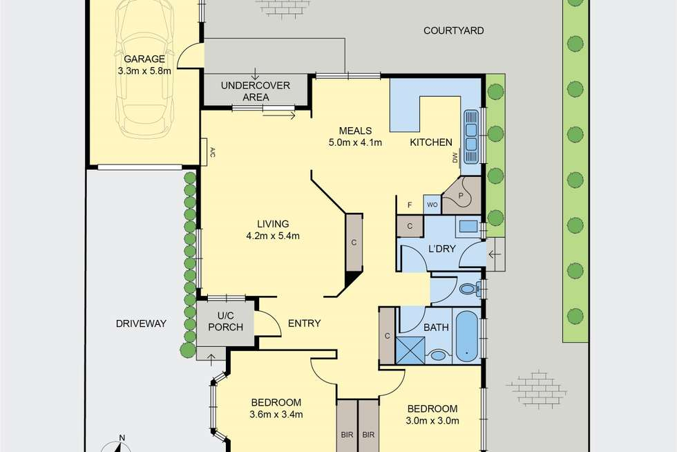 Floorplan of Homely unit listing, 2/34 Holyrood Avenue, Strathmore VIC 3041