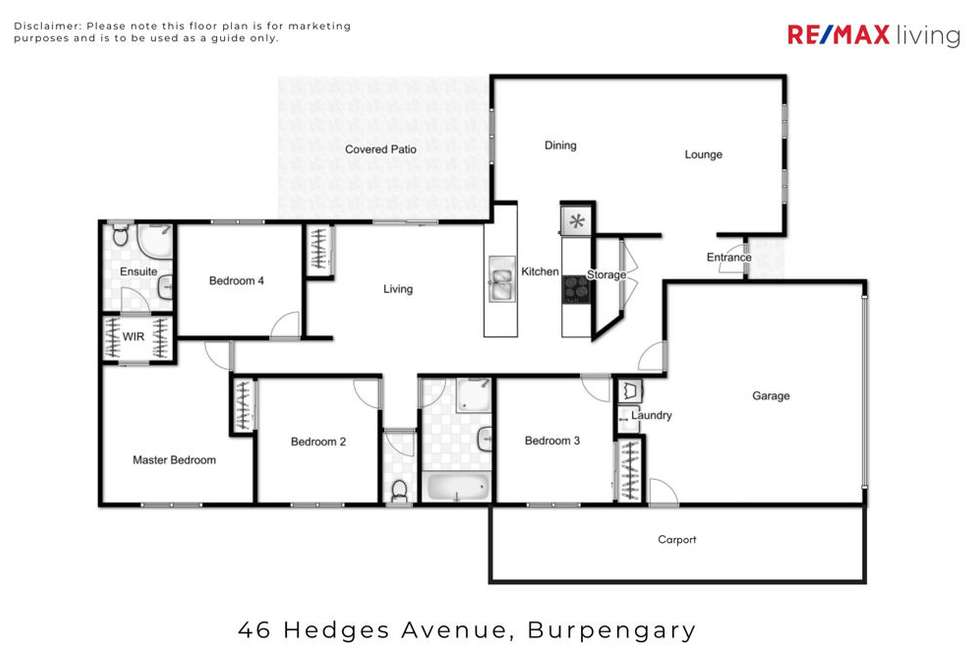 Floorplan of Homely house listing, 46 Hedges Avenue, Burpengary QLD 4505